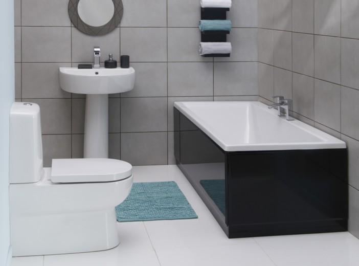 bluebell bathroom suite black panel