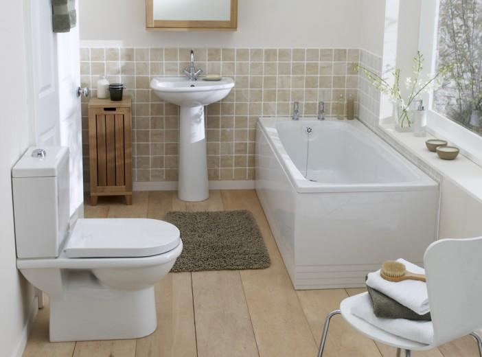 fuscia bathroom suite