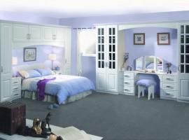 satin white bedroom