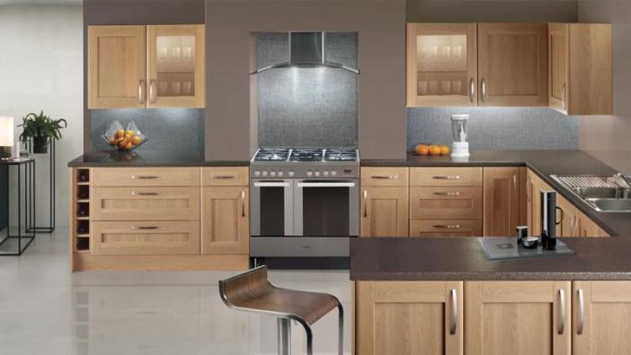 pale oak shaker kitchen