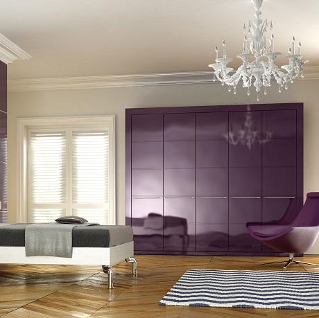 apex linea aubergine gloss bedroom