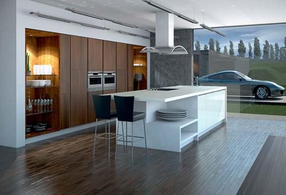 matt dijon gloss ivory linear kitchen