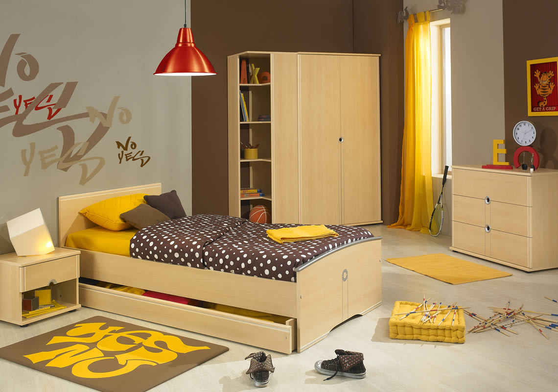 Mix and match teenage bedrooms interior design ideas and for Single bed furniture set