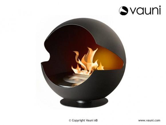 globe designer ethanol fireplace