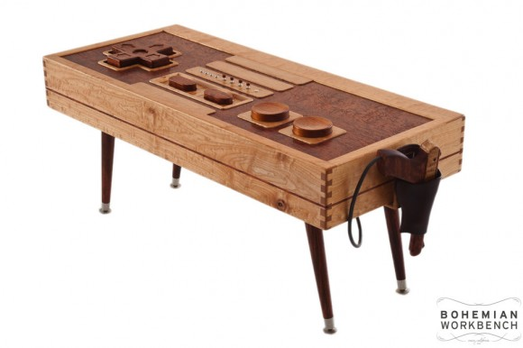 Nintendo Wii Controller Coffee Table with Zapper Maple
