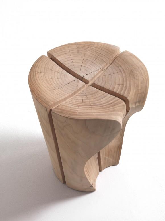 solid wood delta stool