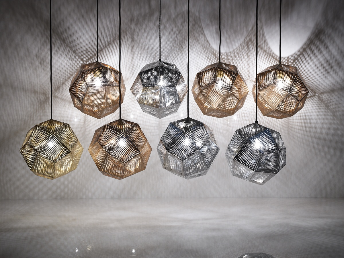innovative geometrical lights from tom dixon interior. Black Bedroom Furniture Sets. Home Design Ideas