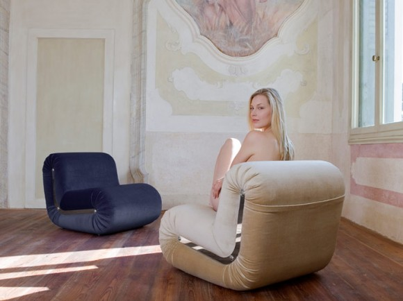stylish boomerang armchair