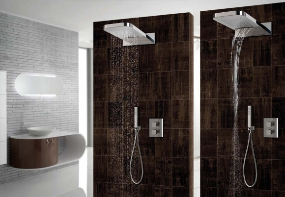 shower head duo rain and waterfall jets