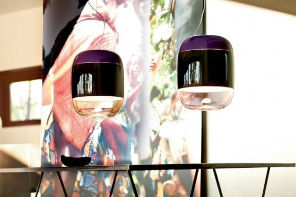 gong suspended lamp