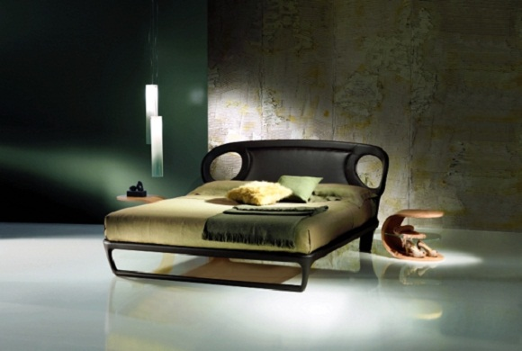 iride smooth padded leather bed