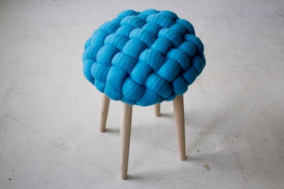knot knit stool