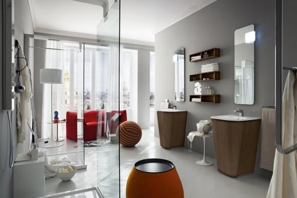 suede bathroom collection