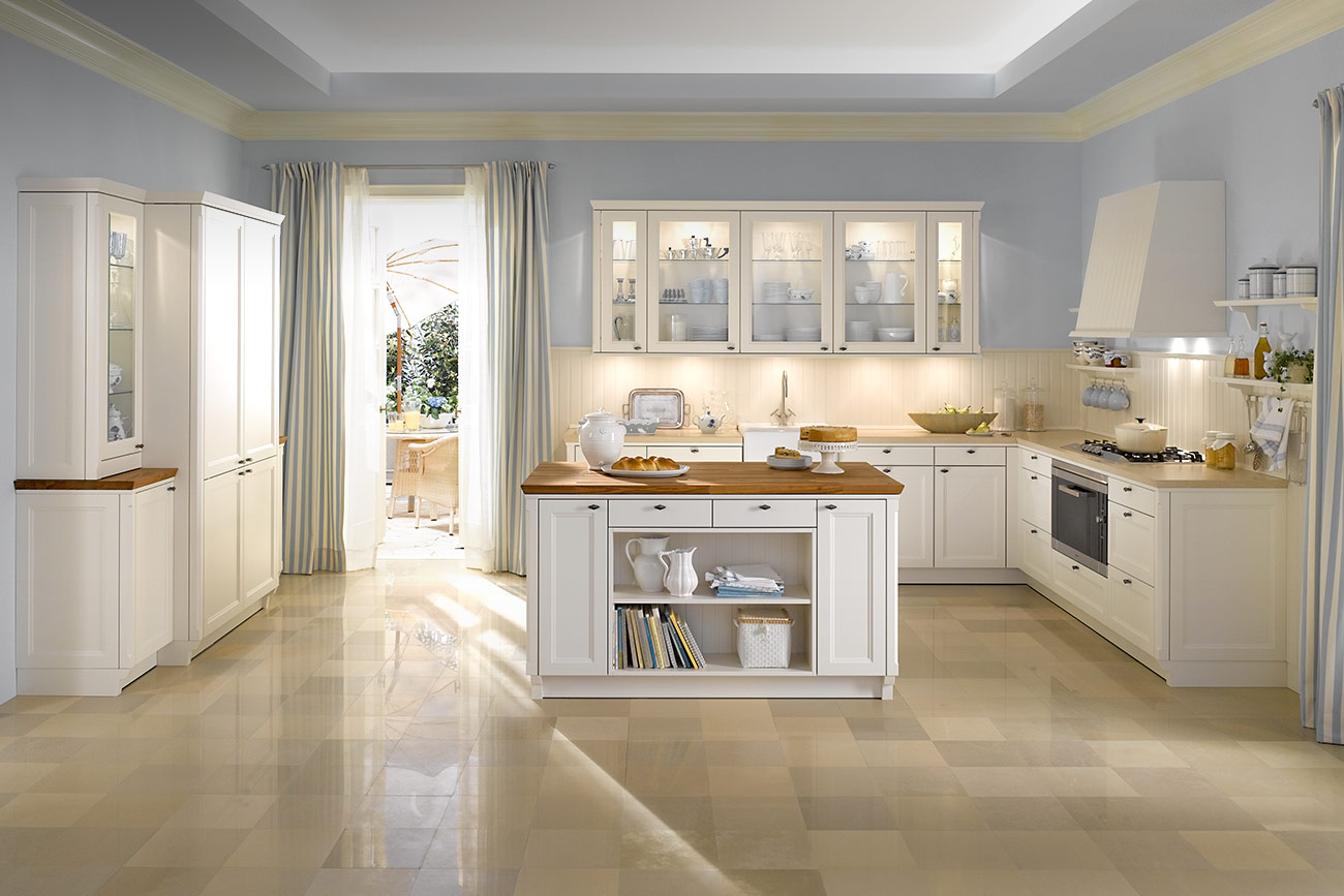 Classic style modern kitchen designs from warendorf for Classic floor designs