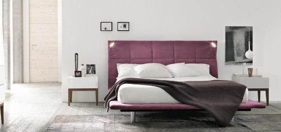 abbraccio upholstered bed