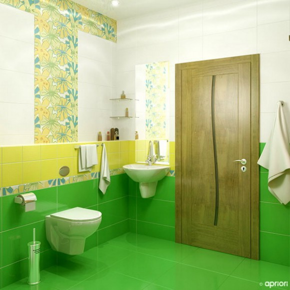 How to make bathrooms stand out unique bathroom themes for Unique bathroom tiles designs