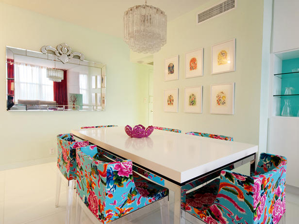 Adding Colors In Dining Room