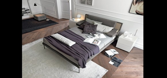 drop upholstered bed