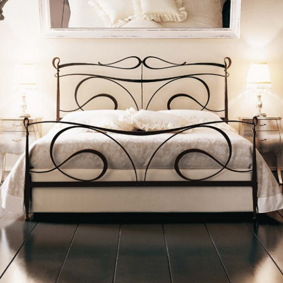 bedroom iron forged furniture