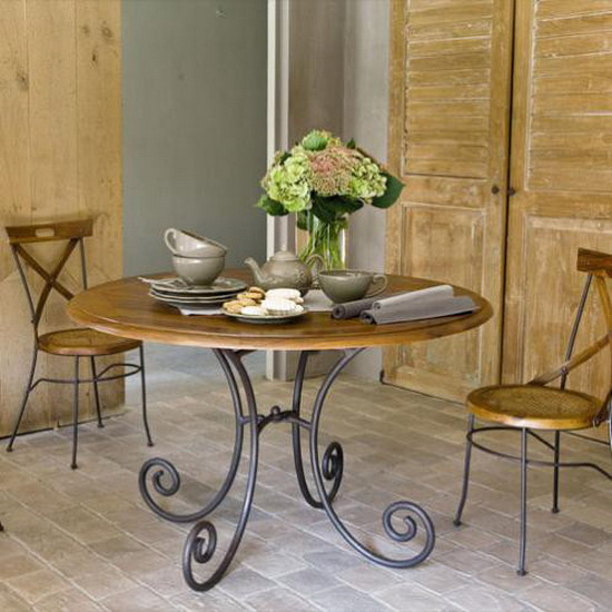 dining room iron forged furniture