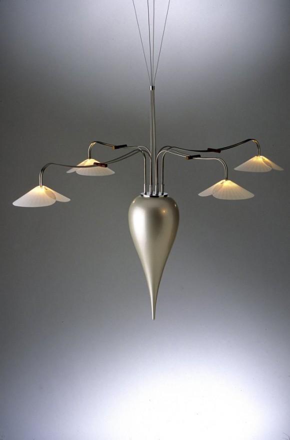 pearl teardop chandelier