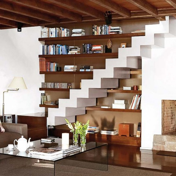 under stairs idea for living room