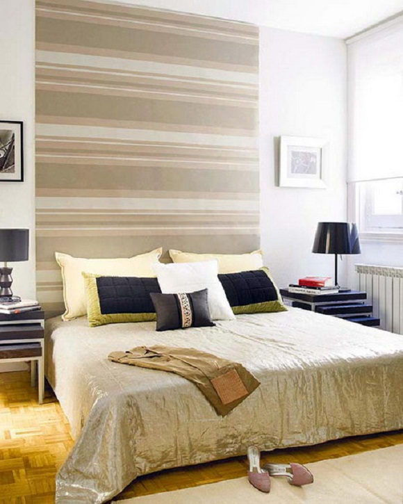 wall headboard stripes