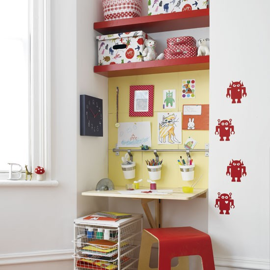 kids room wall niche shelves