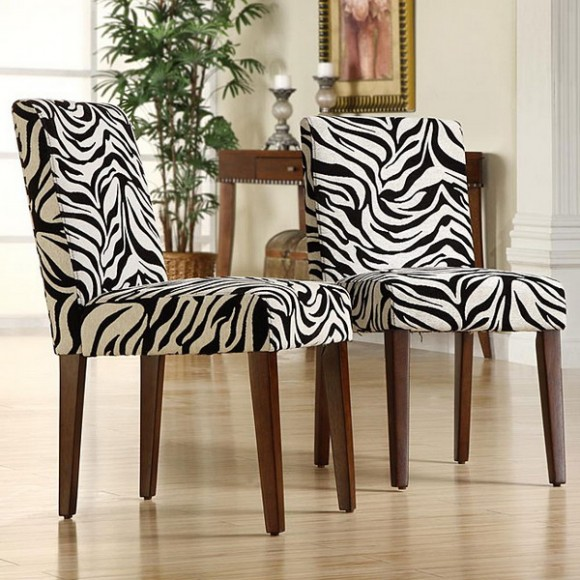 zebra print in upholstery and textiles