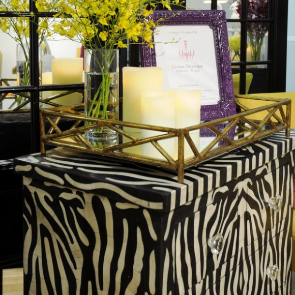 using zebra print in small items
