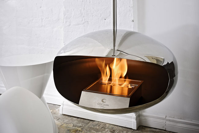 aeris stainless steel fireplace