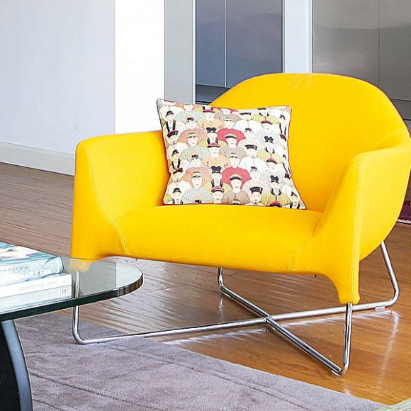 arm chair ideas in bright neon colors