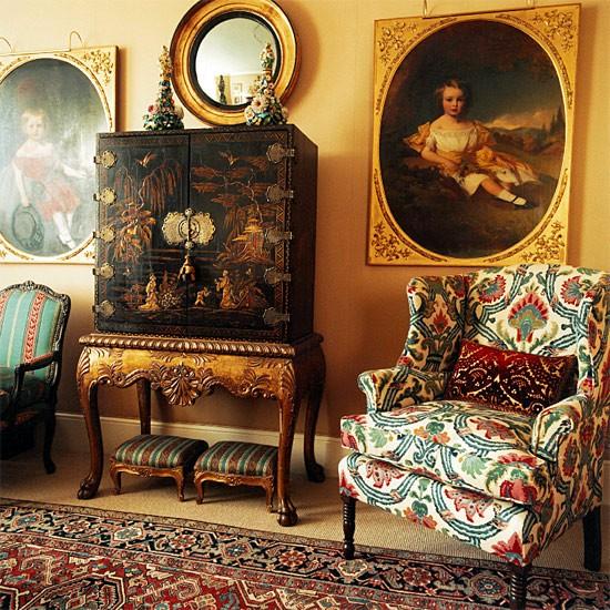 traditional arm chair interior ideas
