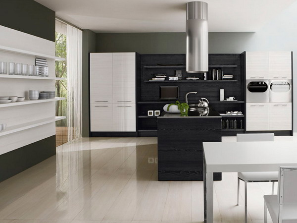 Using black in kitchen without errors interior design ideas and architecture designs ideas - Modern kitchen color combinations ...