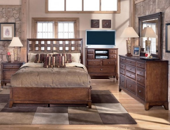 cocoa and cappuccino colors in bedroom