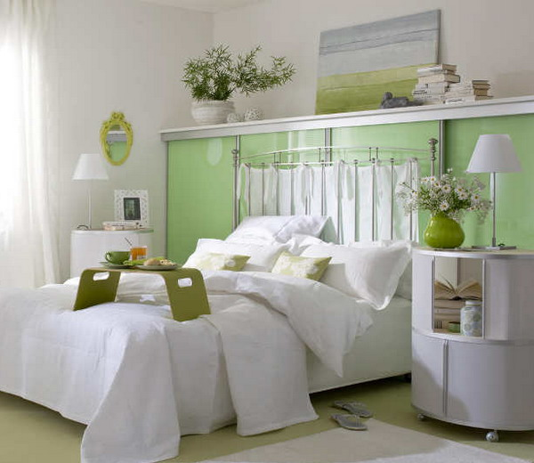 designing bedrooms with two or more colors interior