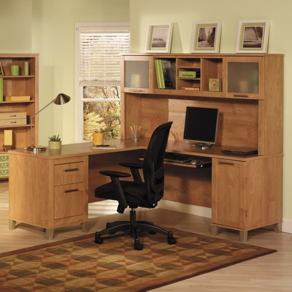 corner home office workstations and cabinets