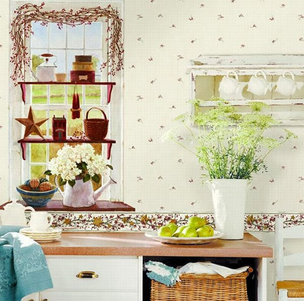 Smart ideas to select wallpapers for the kitchen for Kitchen wallpaper ideas