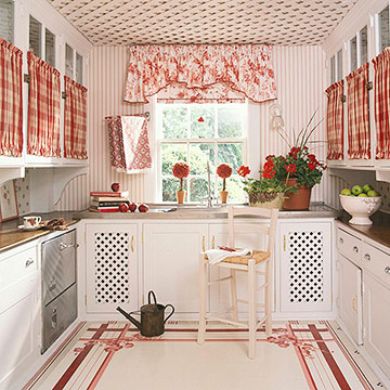 Smart ideas to select wallpapers for the kitchen for Country kitchen wallpaper ideas