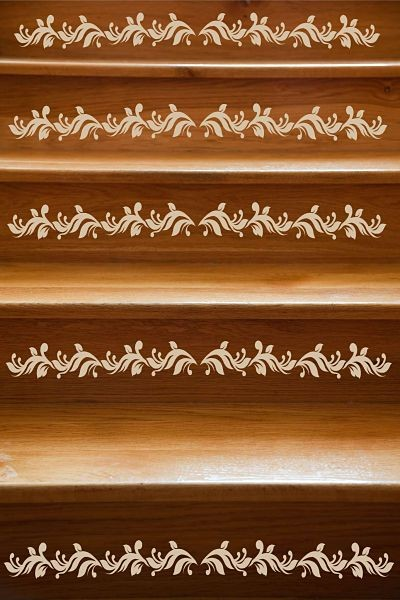 decorating staircase using sticker and wallpaper