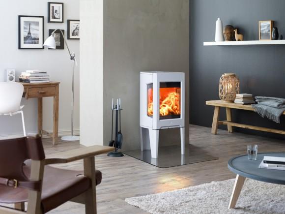 jotul f-163 white fireplace