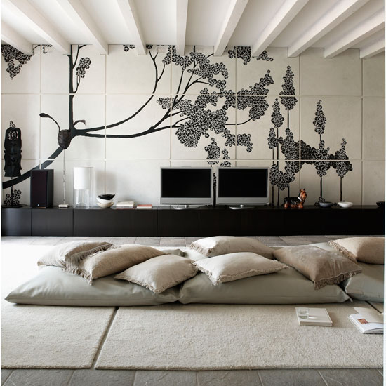 floor cushion ideas for living room