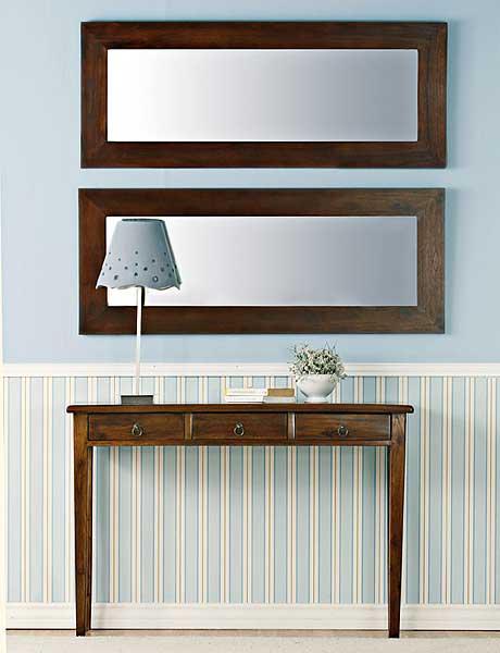 decorating hallway with horizontal mirror