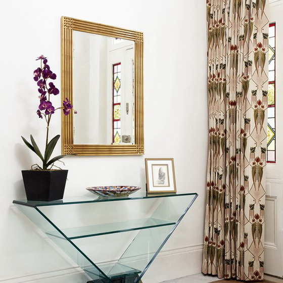 decorating hallway with distinct style mirror