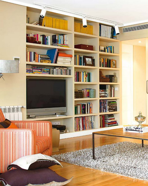 Living Room Library Design Ideas: Creating A Home Library In The Living Room