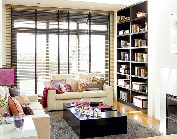 Home Living Room Library Great Ideas
