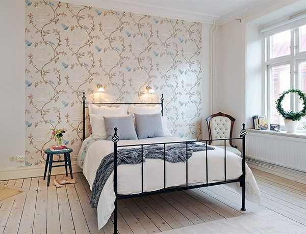 Bedroom Wallpaper Decorating Ideas Decorating The Solo Wall Of The Bedroom  Interior Design Ideas .