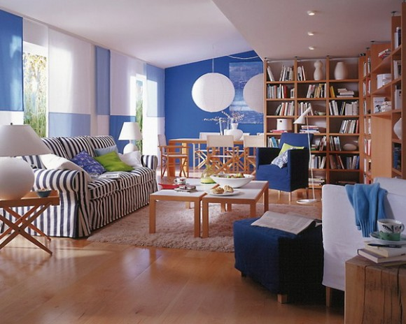 living room in blue ideas