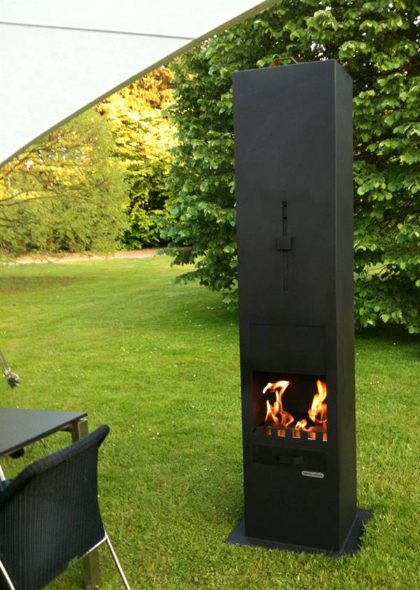 Functional Exterior And Outdoor Fireplaces From Zeno Products Interior Design Ideas And