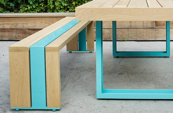stylish outdoor table set